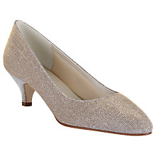 Buy Rainbow Club Winnie Sparkly Court Shoes, Metallic Online at johnlewis.com