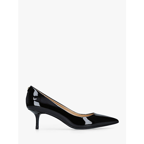 Michael Kors Flex Pump Kitten Heel Court Shoes Black Online At Johnlewis