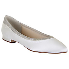 Buy Rainbow Club Stevie Low Heeled Pumps, Ivory Satin Online at johnlewis.com