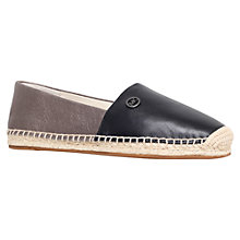 Buy MICHAEL Michael Kors Kendrick Slip On Espadrilles, Black/Grey Leather Online at johnlewis.com