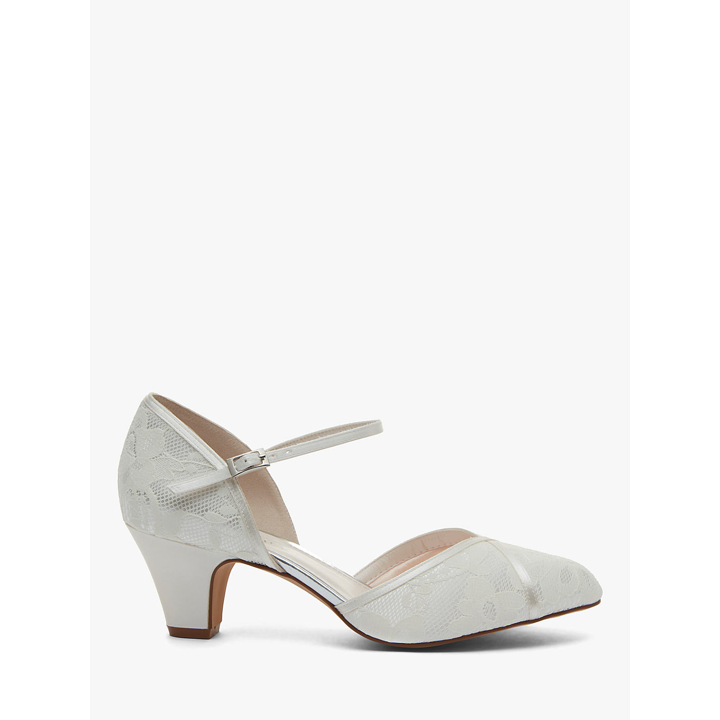 Rainbow Club Shirley Extra Wide Fit Court Shoes Ivory Satin Online At Johnlewis
