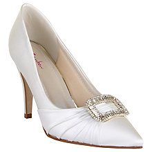 Buy Rainbow Club Samantha Embellished Court Shoes, Ivory Satin Online at johnlewis.com