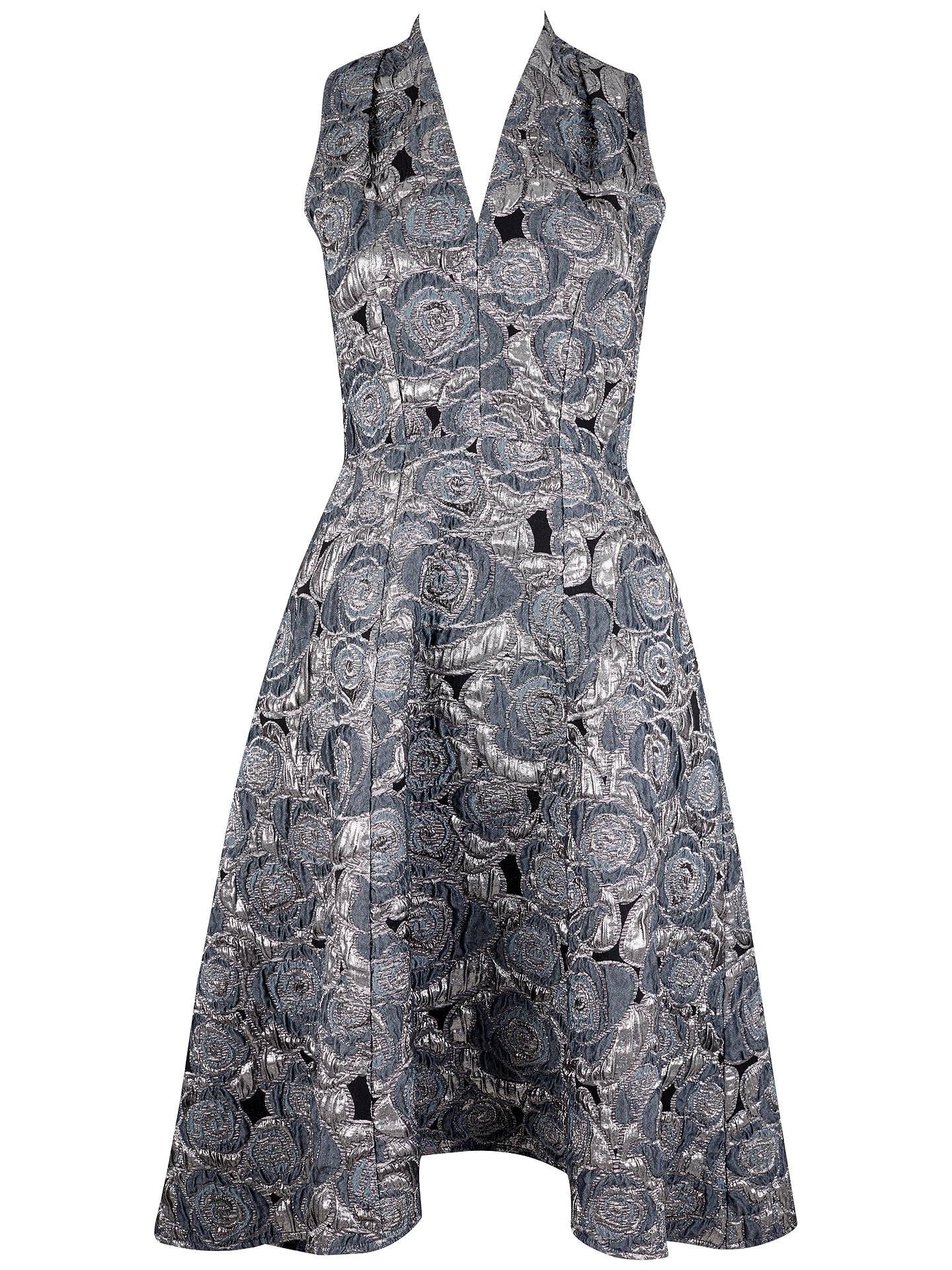942d6ef7bbb2 Buy Closet Hi Low V Neck Metallic Dress