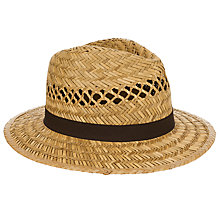 Buy John Lewis Open Weave Seagrass Fedora Hat, Natural Online at johnlewis.com