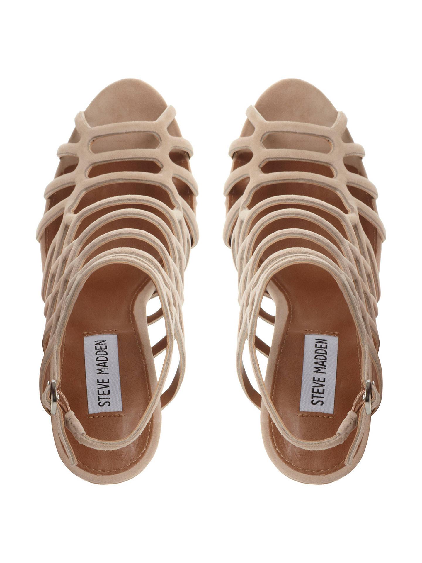 3f24458ccafb03 Steve Madden Slithur High Heeled Cage Sandals at John Lewis   Partners