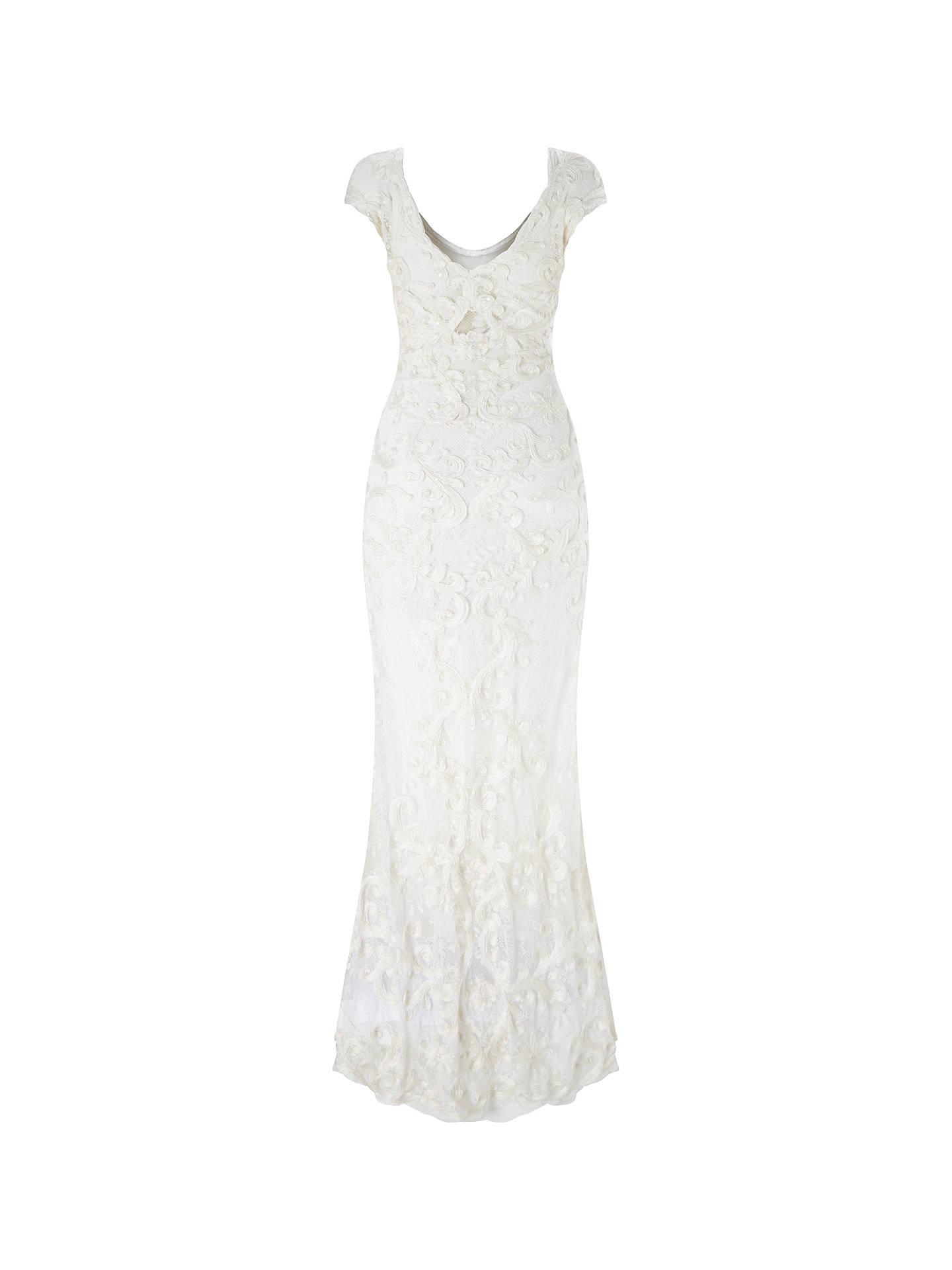 Phase Eight Bridal Amelie Tapework Wedding Dress, Cream at ...
