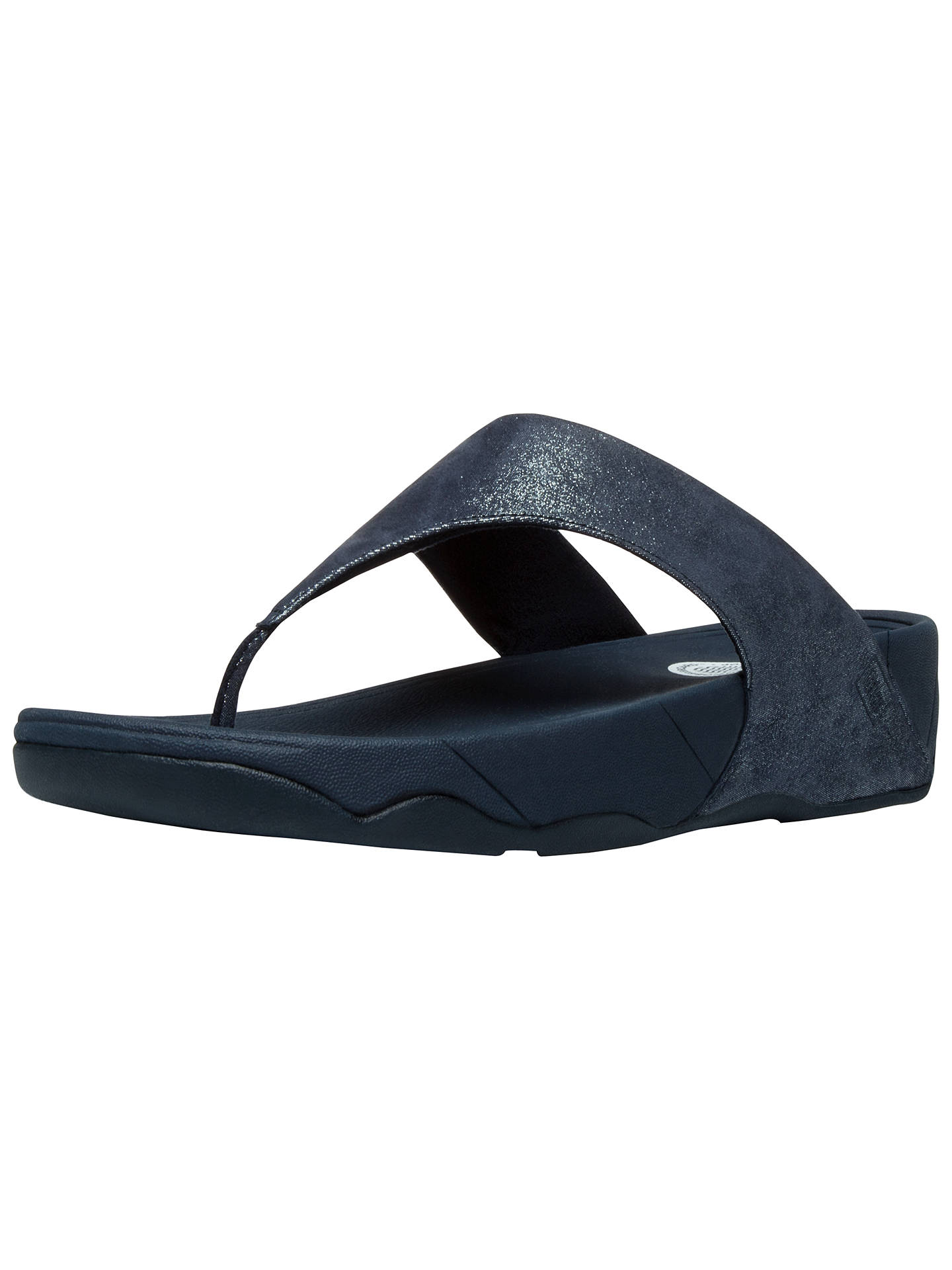 6e950c516a4c FitFlop Lulu Shimmer Suede Flip Flops at John Lewis   Partners