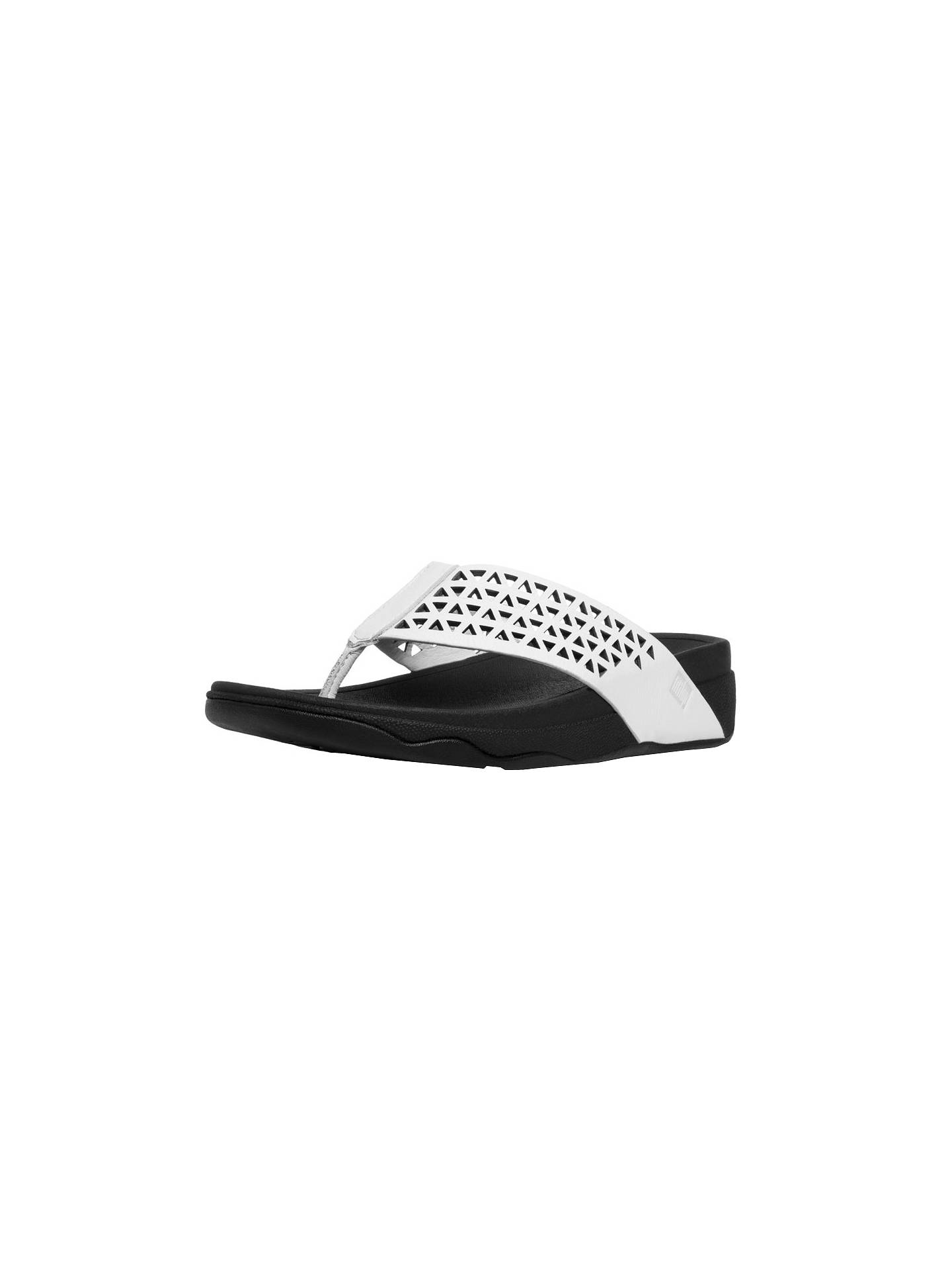 724bb512070 Fitflop Leather Lattice Surfa Sandals at John Lewis   Partners