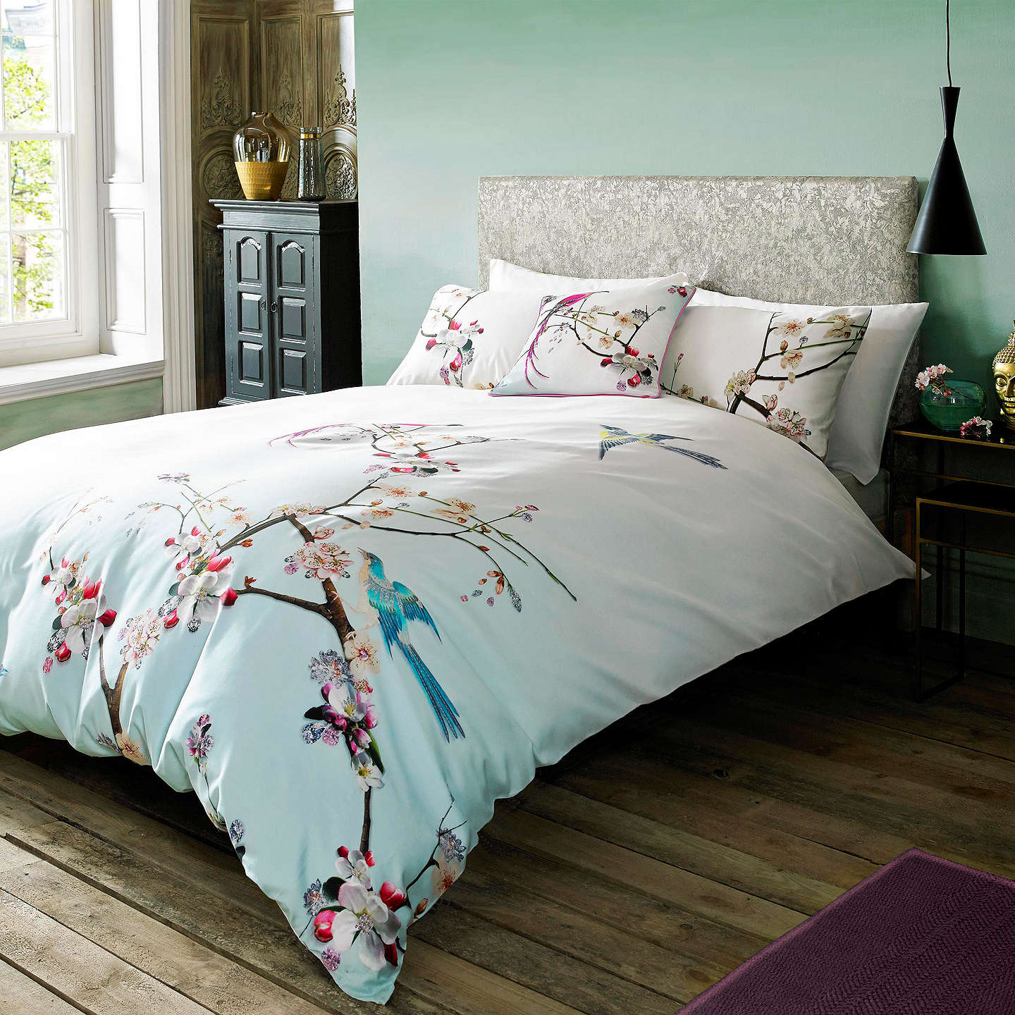 BuyTed Baker Flight of the Orient Cotton Standard Pillowcase, Pair, Multi Online at johnlewis.com