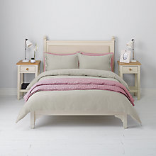 Buy John Lewis Herringbone Duvet Cover and Pillowcase Set, Grey Online at johnlewis.com