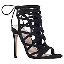 Buy Carvela Gracie Caged Stiletto Sandal Court Shoes, Black Online at johnlewis.com