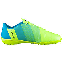 Buy Puma evoPOWER 4.3 TT Football Boots, Yellow/Blue Online at johnlewis.com