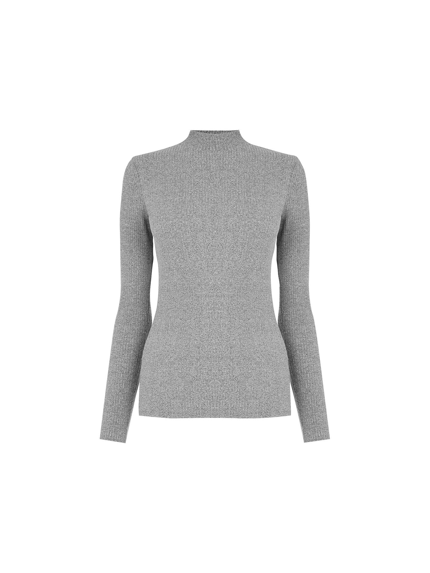 Oasis Skinny Rib Polo Neck Jumper at John Lewis & Partners