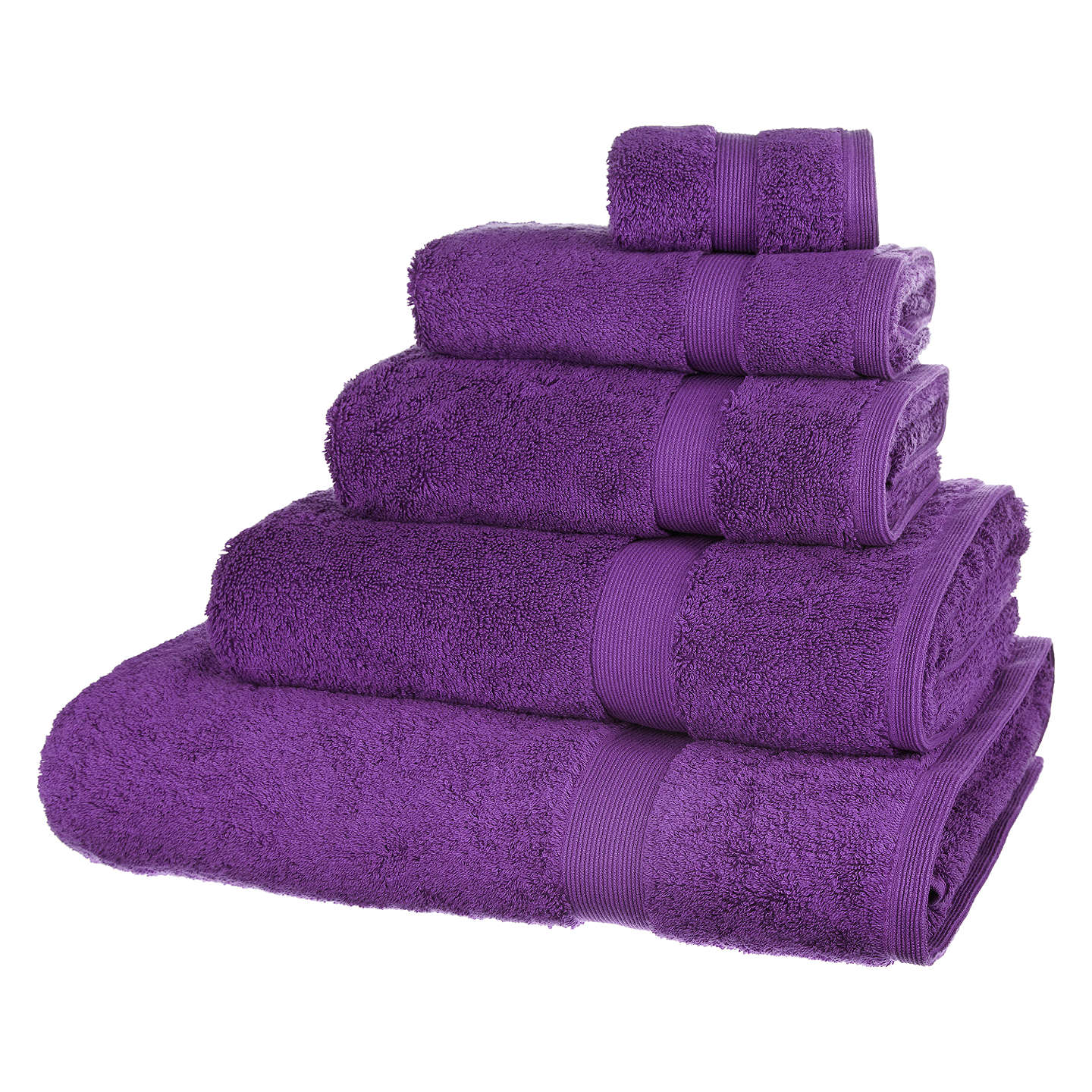 BuyJohn Lewis Egyptian Cotton Face Cloth, Purple Online at johnlewis.com
