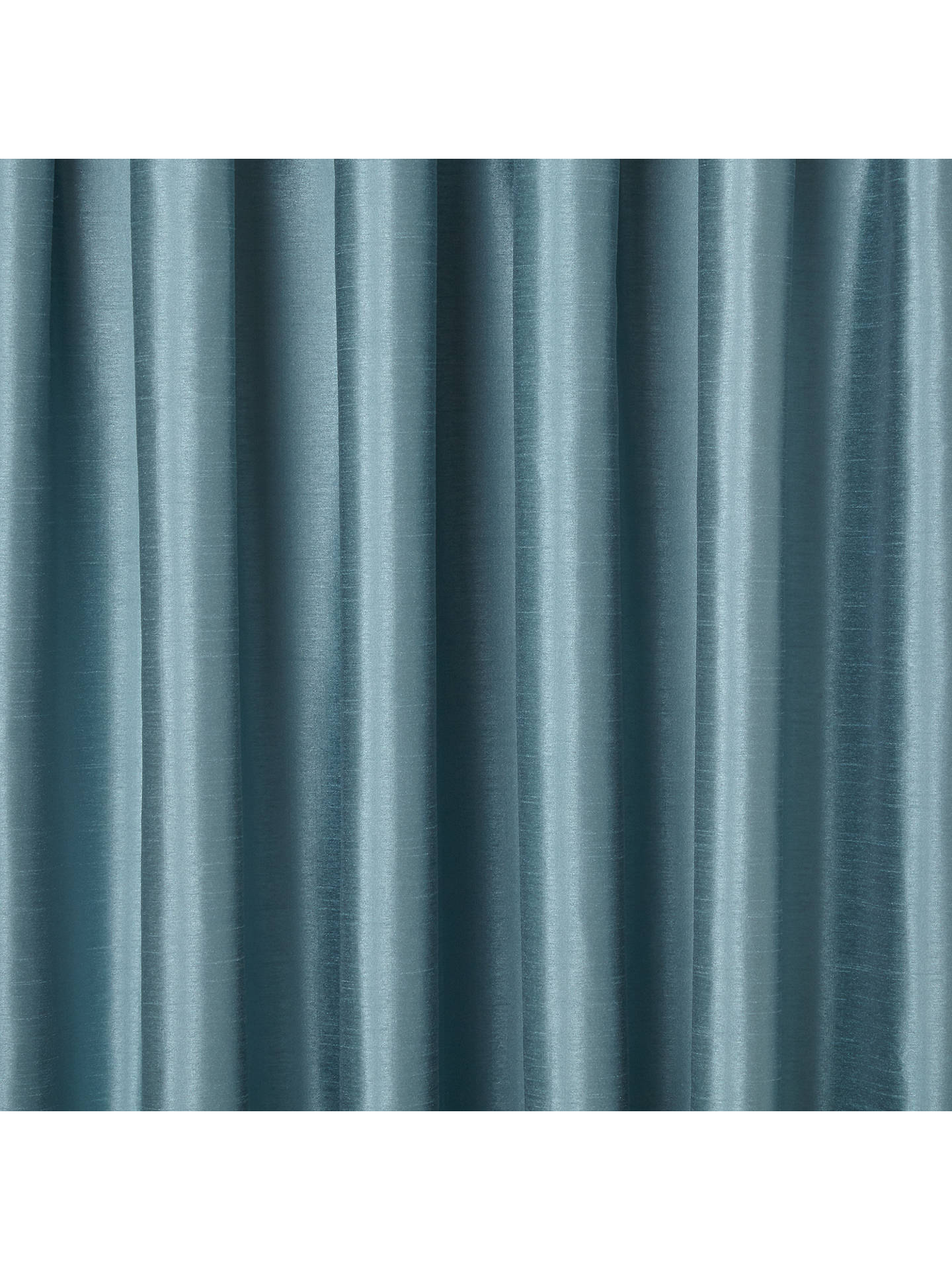 Buy John Lewis & Partners Faux Silk Pair Blackout Lined Pencil Pleat Curtains, Duck Egg, W167 x Drop 137cm Online at johnlewis.com