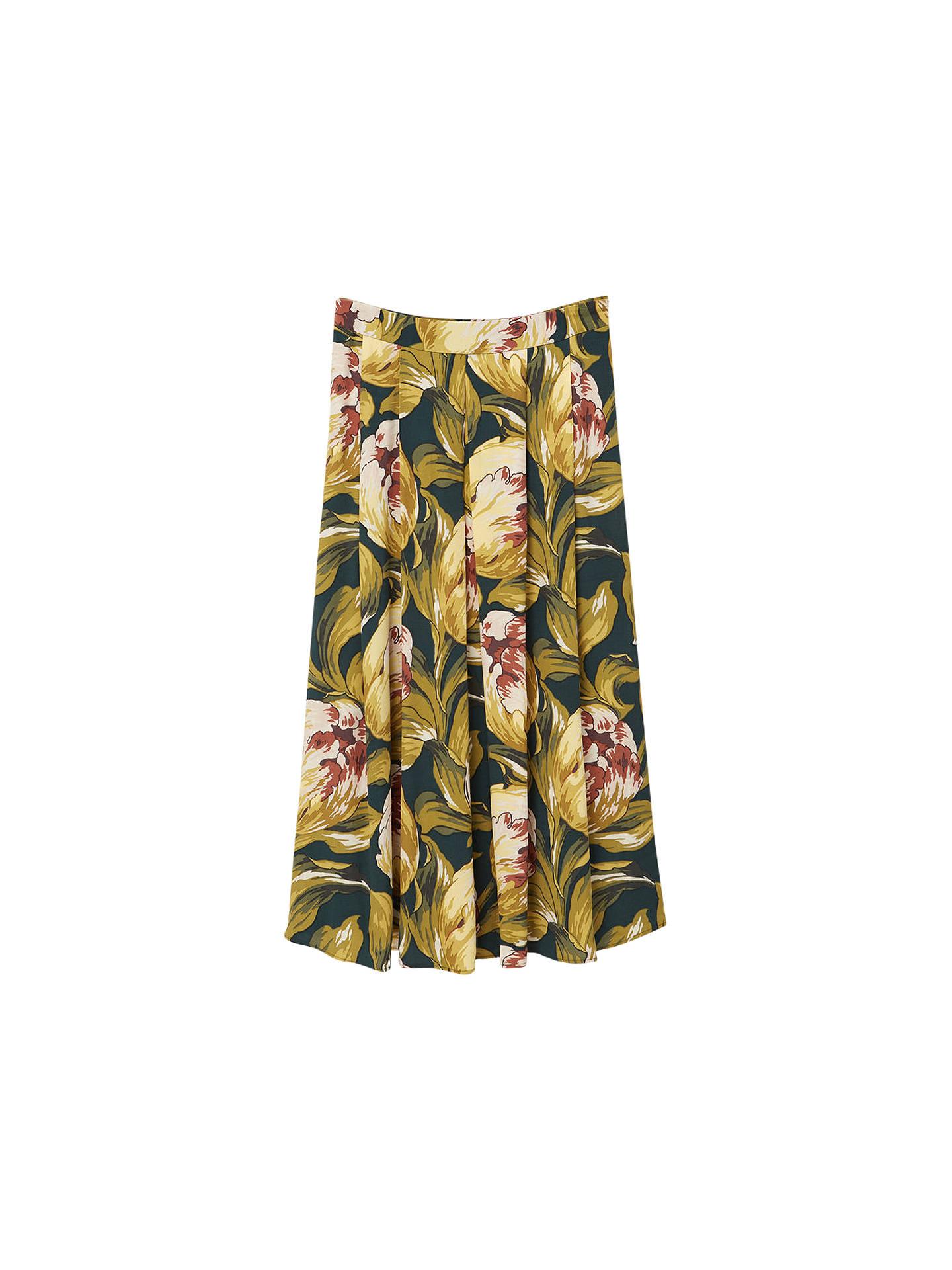 6e5aa325c Buy Mango Floral Midi Skirt, Green, 6 Online at johnlewis.com ...