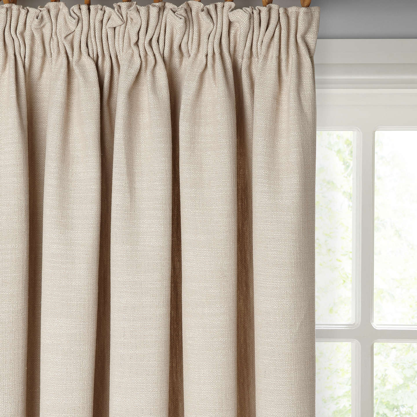 BuyCroft Collection Skye Pair Lined Pencil Pleat Curtains, Putty, W167 x Drop 137cm Online at johnlewis.com