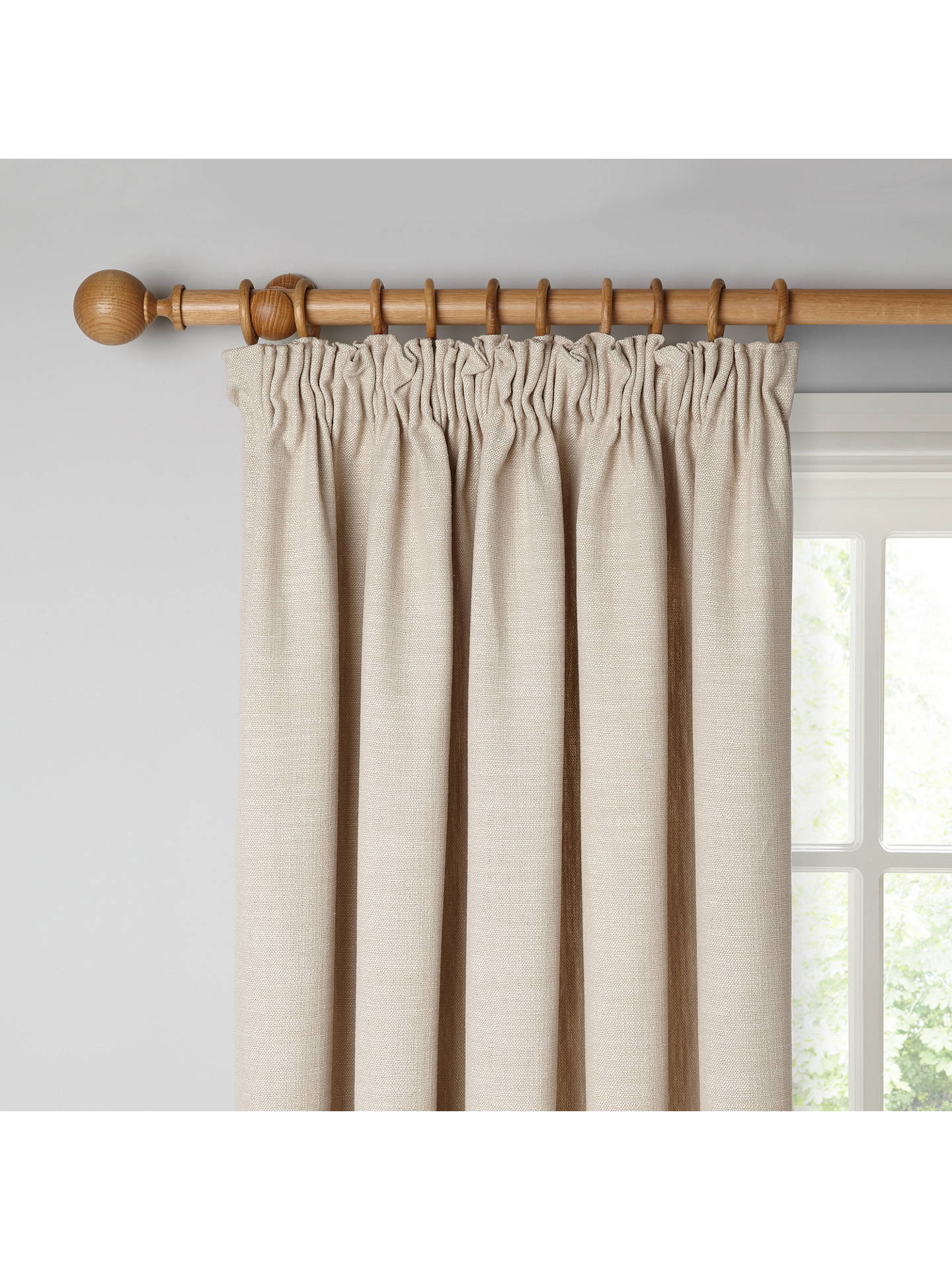 Buy Croft Collection Skye Pair Lined Pencil Pleat Curtains, Putty, W167 x Drop 137cm Online at johnlewis.com