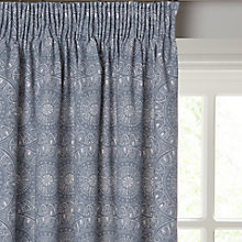 Buy John Lewis Persia Lined Pencil Pleat Curtains, Indian Blue Online at johnlewis.com