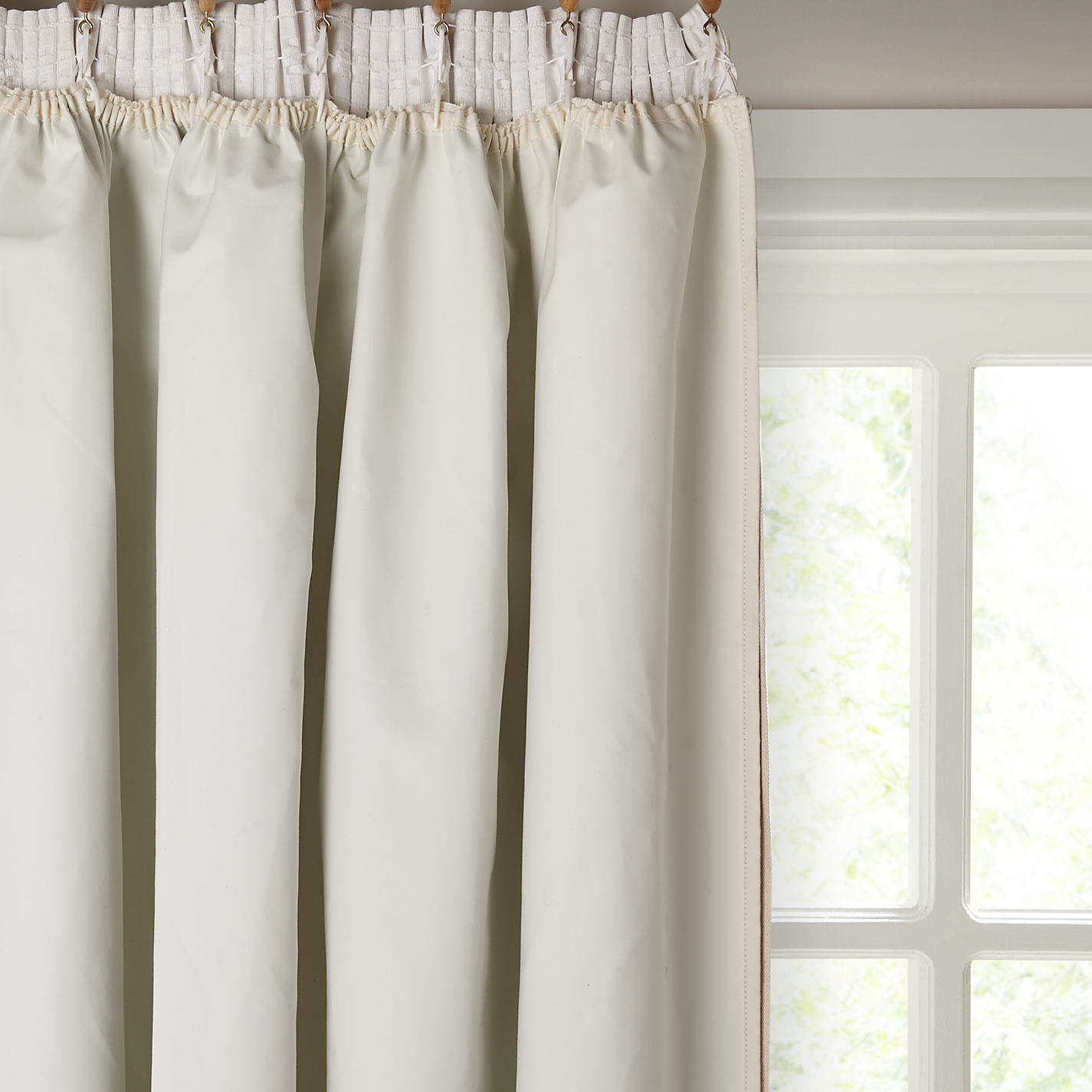 Buy John Lewis Pencil Pleat Blackout Curtain Linings, Ivory | John ...