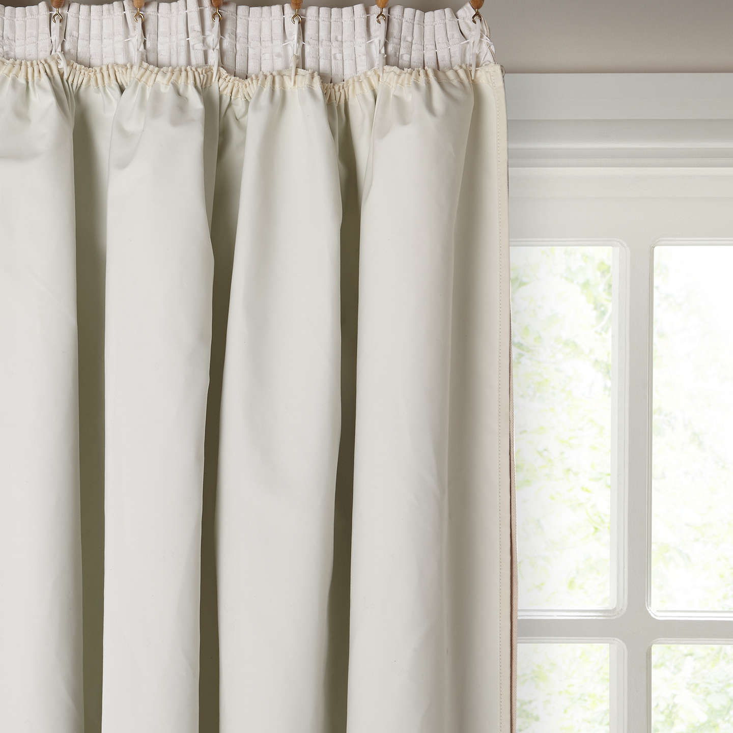 BuyJohn Lewis Pencil Pleat Pair Blackout Curtain Linings Ivory W162 X Drop 130cm Online