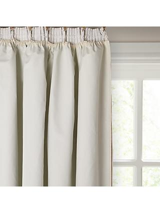 John Lewis & Partners Pencil Pleat Pair Blackout Curtain Linings, Ivory