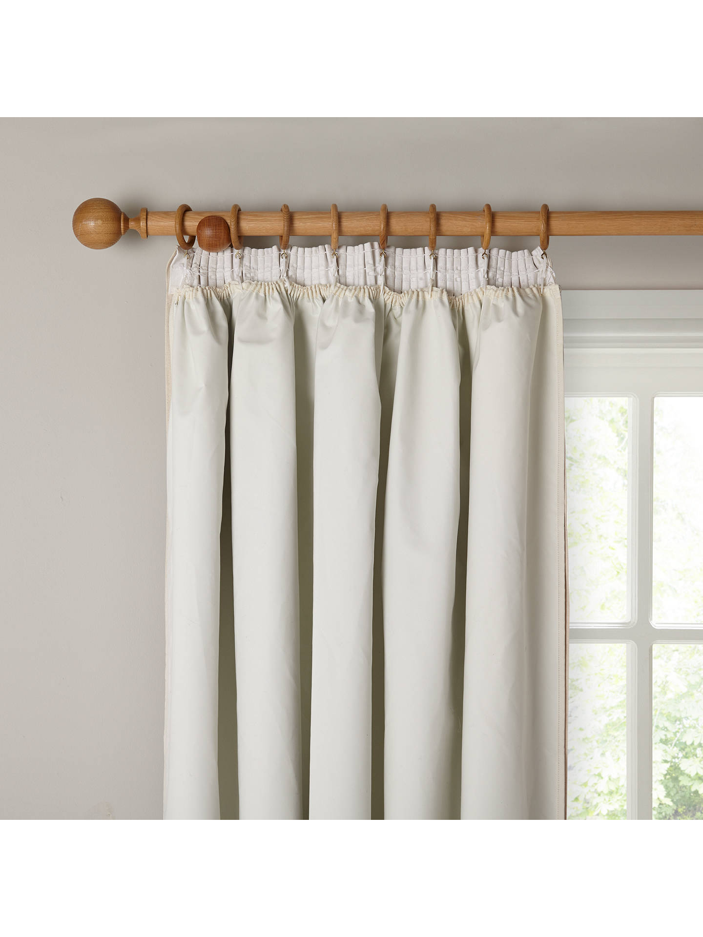 BuyJohn Lewis & Partners Pencil Pleat Pair Blackout Curtain Linings, Ivory, W162 x Drop 130cm Online at johnlewis.com