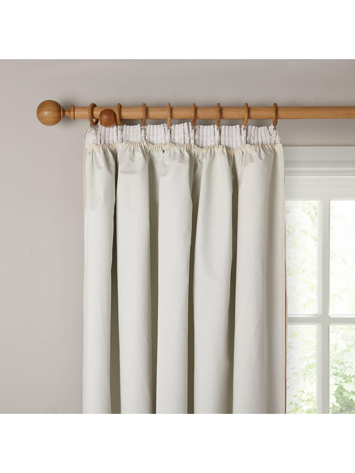 John Lewis Partners Pencil Pleat Pair Blackout Curtain Linings