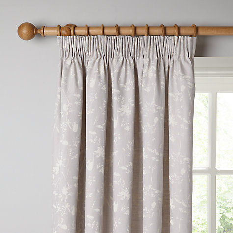 Buy John Lewis Croft Collection Freya Lined Pencil Pleat Curtains - John lewis curtains grey