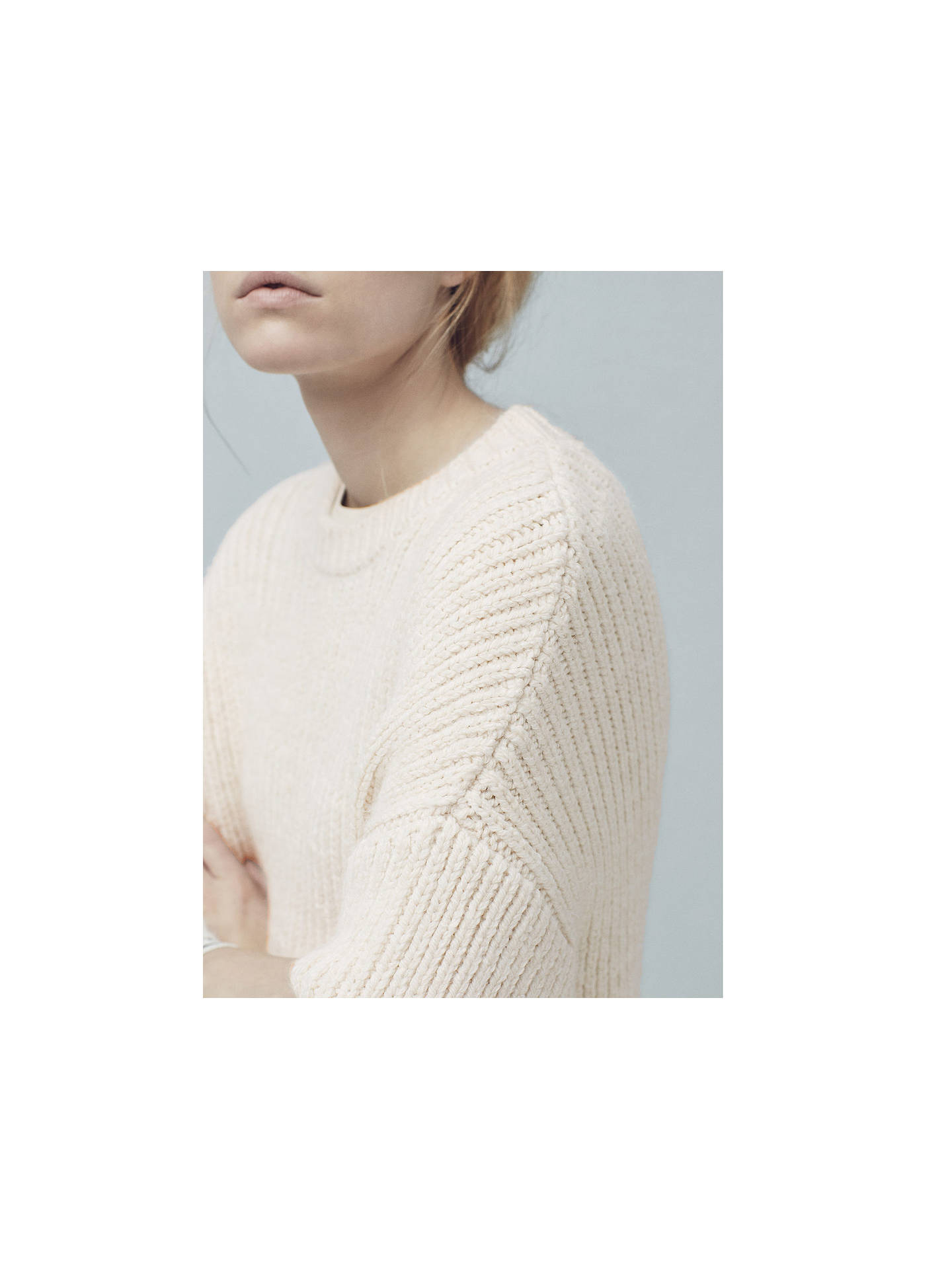 Buy Mango Long Knit Jumper, Light Beige, S Online at johnlewis.com