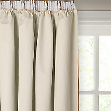 Buy John Lewis Pencil Pleat Thermal Curtain Linings, Ivory Online at johnlewis.com