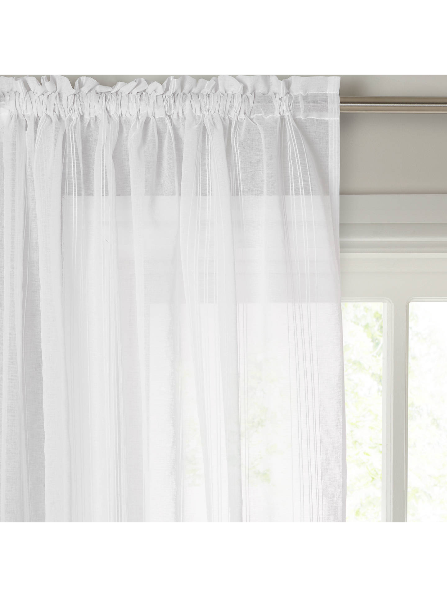 BuyJohn Lewis & Partners Florence Slot Top Voile Panel, W150 x Drop 135cm, White Online at johnlewis.com