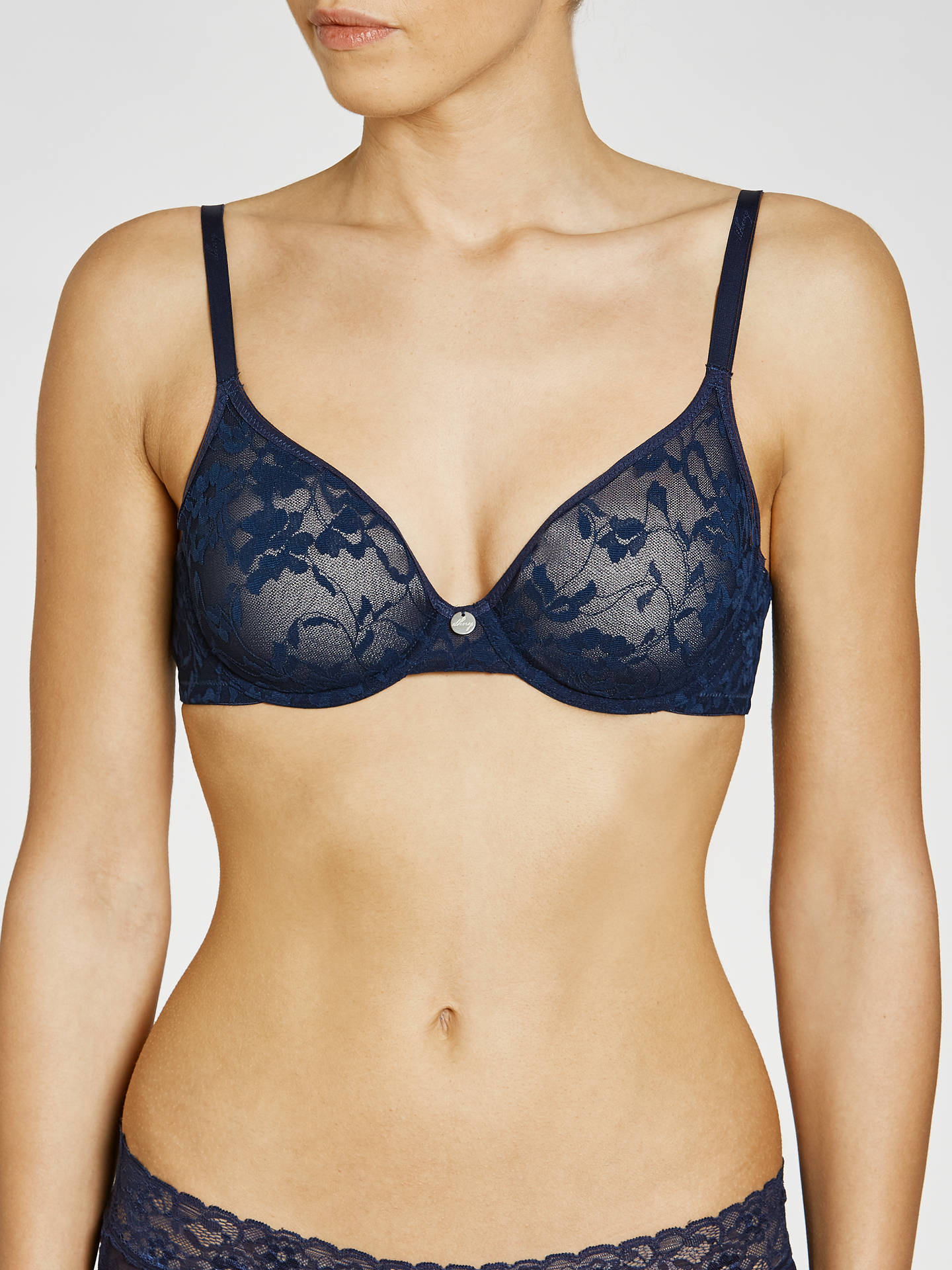 ff62982407698 DKNY Signature Lace Unlined Demi Bra at John Lewis   Partners