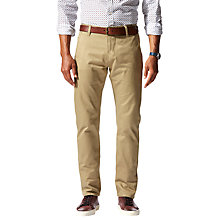 Buy Dockers Alpha Stretch Twill Slim Tapered Trousers, New British Khaki Online at johnlewis.com