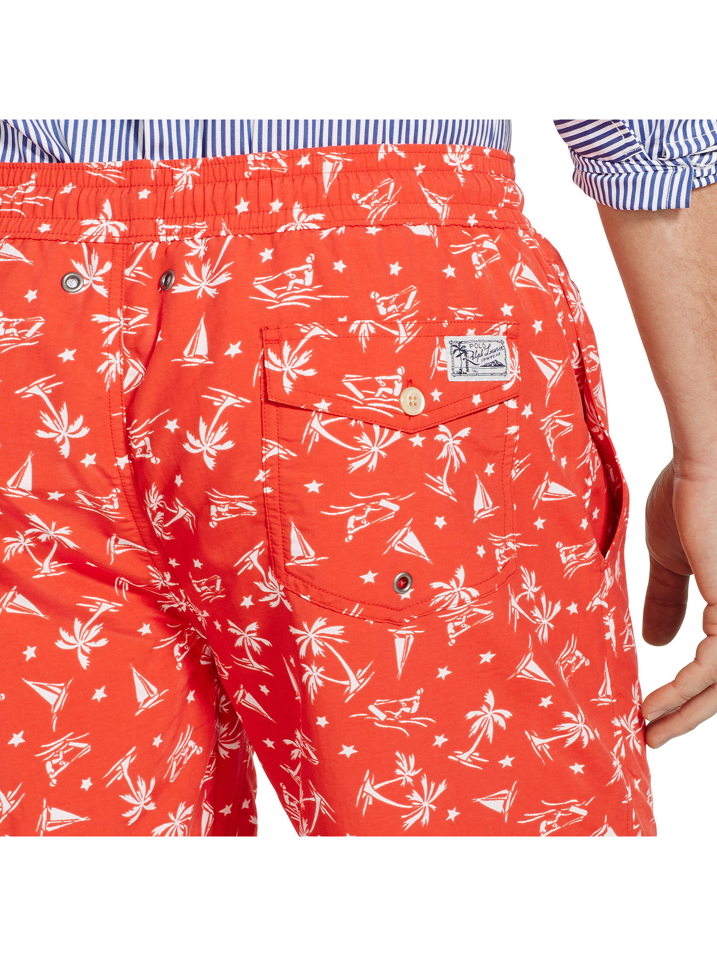d113f3a8eb ... Buy Polo Ralph Lauren Traveller Swim Shorts, Native Red Wakeboard, S  Online at johnlewis ...