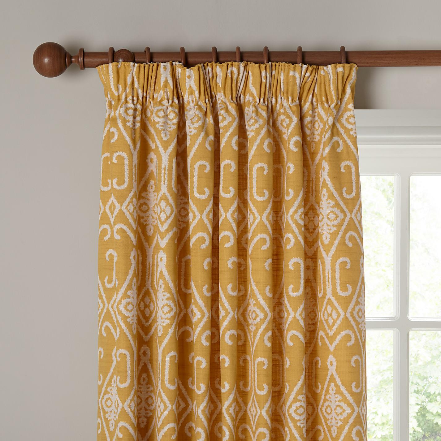 Grey and yellow curtains uk john lewis -  Buy John Lewis Saigon Lined Pencil Pleat Curtains Online At Johnlewis Com