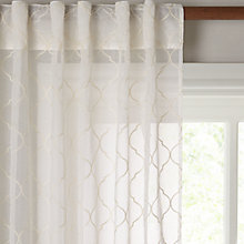 Buy John Lewis Zagora Hidden Tab Top Voile Panel, Cream Online at johnlewis.com