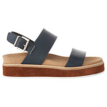 Buy Whistles Firth Flatform Sandals, Navy Leather Online at johnlewis.com