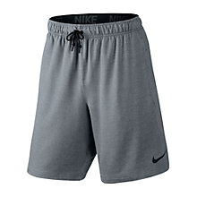 Buy Nike 20.5cm Dri-FIT Fleece Training Shorts, Cool Grey Online at johnlewis.com