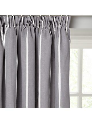 John Lewis & Partners Padstow Stripe Pair Lined Pencil Pleat Curtains