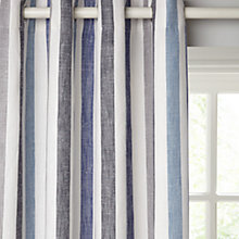 Buy John Lewis Penzance Stripe Lined Eyelet Curtains Online at johnlewis.com
