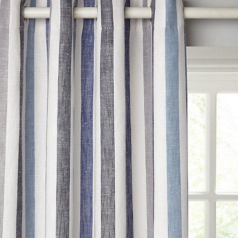 Buy John Lewis Penzance Stripe Lined Eyelet Curtains