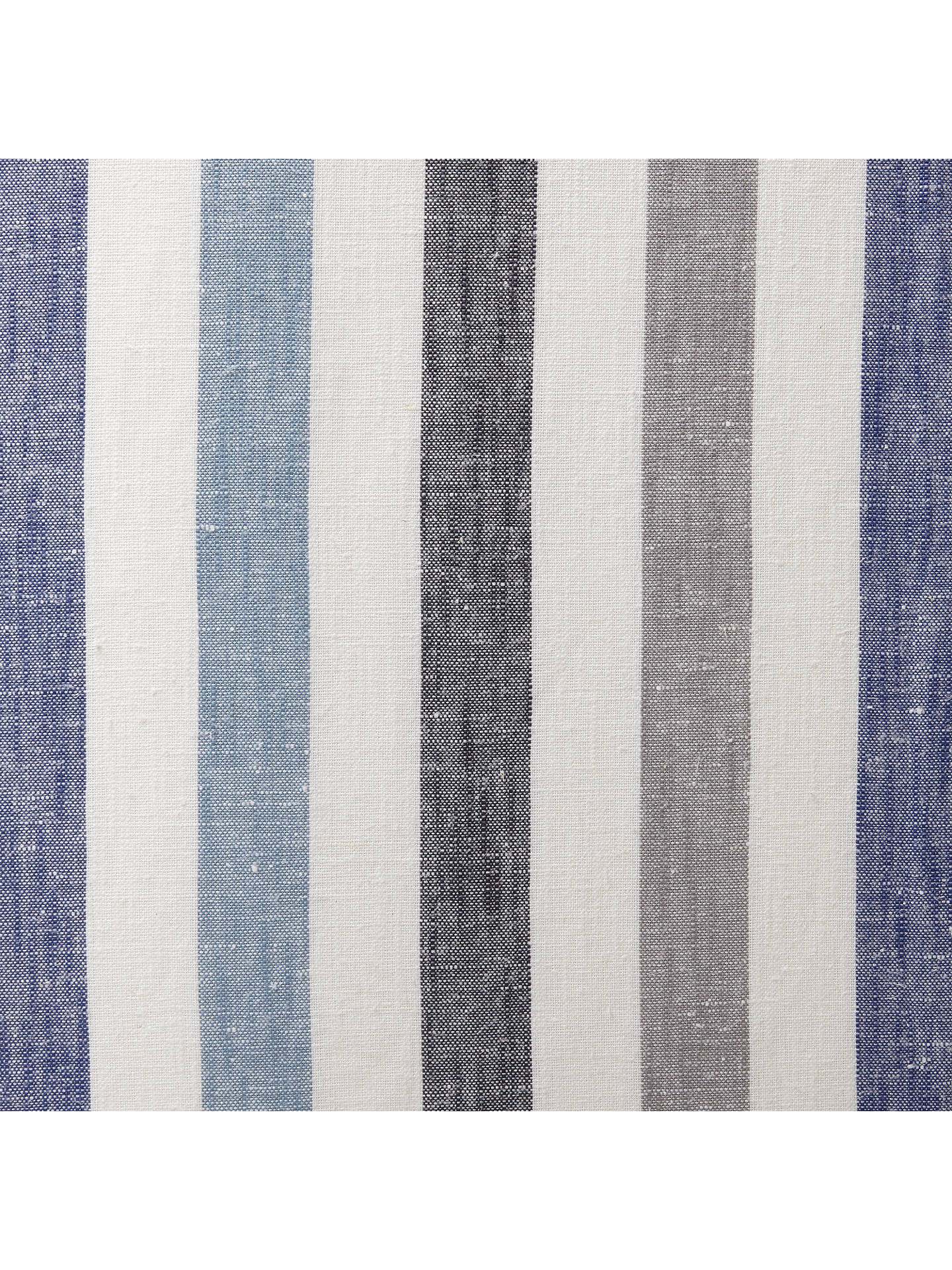 BuyJohn Lewis & Partners Penzance Stripe Pair Lined Eyelet Curtains, Blue, W167 x Drop 137cm Online at johnlewis.com