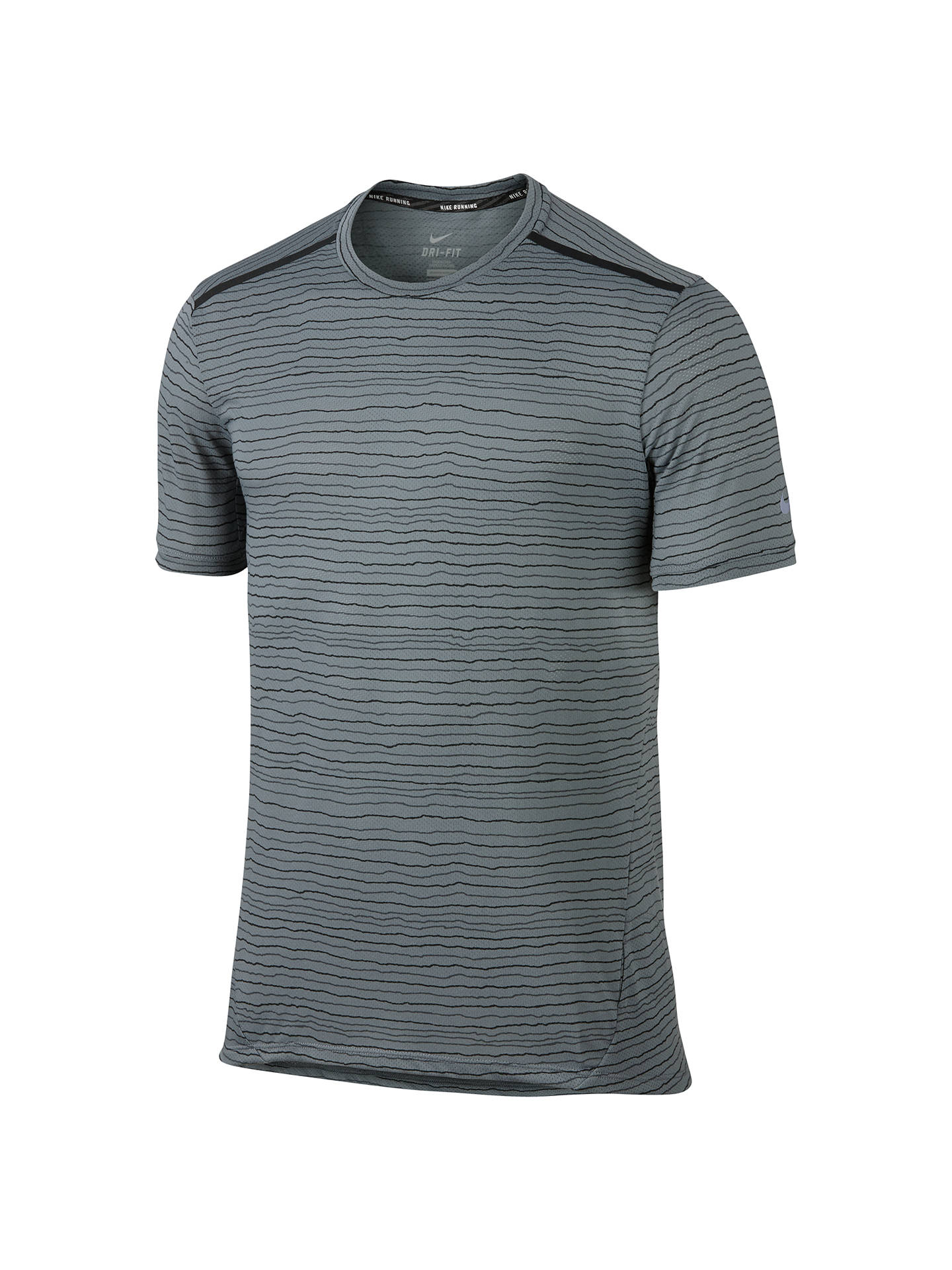 80459a25 Buy Nike Dri-FIT Cool Tailwind Stripe T-Shirt, Cool Grey/Reflective ...
