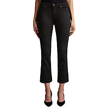 Buy AG The Jodie Crop Bootcut Jeans, Over Dye Black Online at johnlewis.com