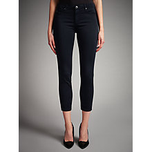 Buy AG The Sateen Prima Cropped Skinny Jeans, Dark Navy Online at johnlewis.com