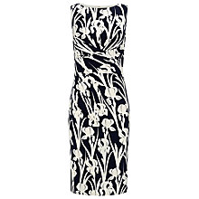 Buy Phase Eight Iris Printed Jersey Dress, Navy/ White Online at johnlewis.com