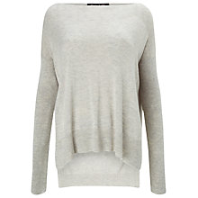 Buy Phase Eight Bria Side Split Jumper, Silver Marl Online at johnlewis.com
