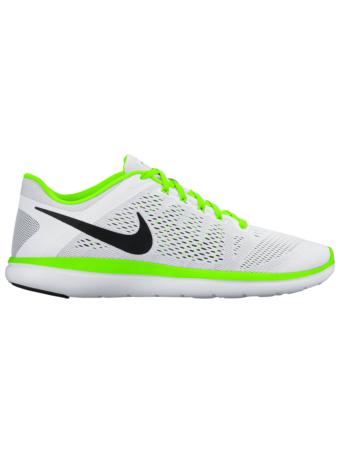 detailed look 0375b fd40b Buy Nike Flex 2016 RN Men s Running Shoes, White Green, 7 Online at ...
