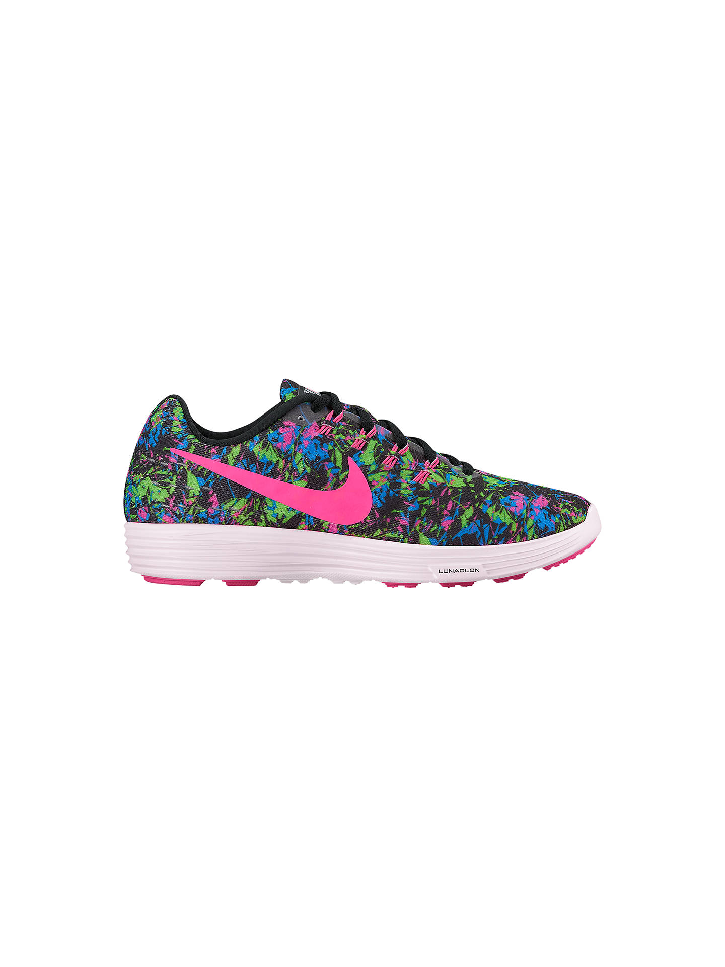 online store 267a6 56ea4 Buy Nike Women s LunarTempo 2 Print Running Shoes, Black Pink, 4 Online at  ...